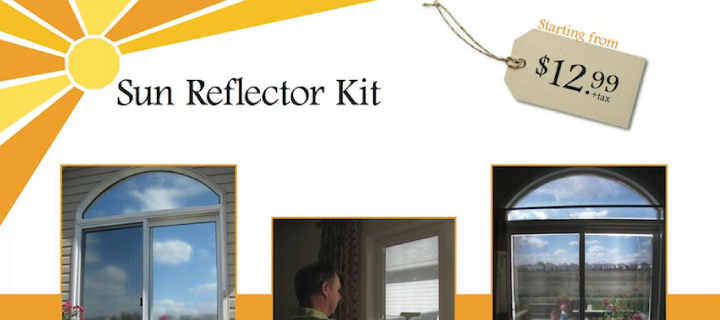 The Sun Reflector Kit Reduces Air Conditioner Use